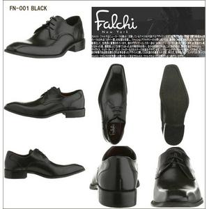 Falchi New York レザードレスシューズ 001 ブラック 26.0