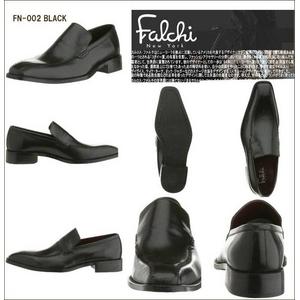 Falchi New York レザードレスシューズ 002 ブラック 27.0