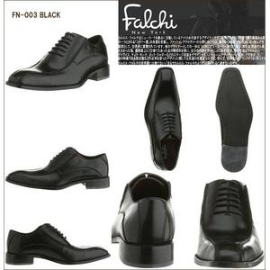 Falchi New York レザードレスシューズ 002 ブラック 24.5