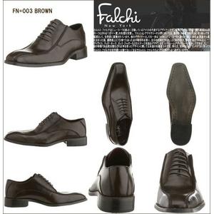 Falchi New York レザードレスシューズ 003 ブラウン 27.0