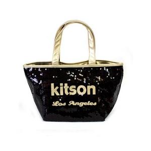 KITSON(キットソン) ミニスパンコール トートバッグ 3563 ブラック/ゴールド
