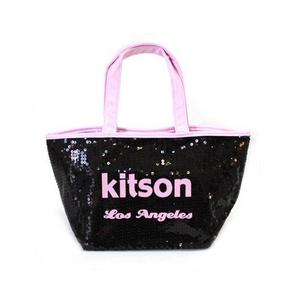 KITSON(キットソン) ミニスパンコール トートバッグ 3562 ブラック/ピンク