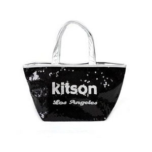 KITSON(キットソン) ミニスパンコール トートバッグ 3564 ブラック/シルバー