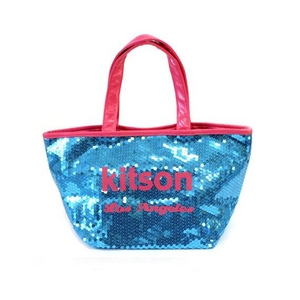 KITSON(キットソン) ミニスパンコール トートバッグ 3558 ブルー/ピンク