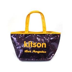 KITSON(キットソン) ミニスパンコール トートバッグ 3560 パープル/イエロー