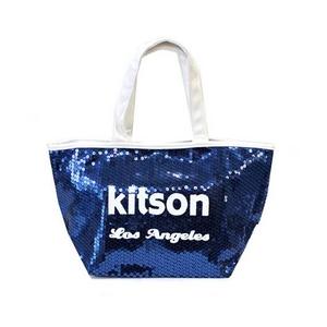 KITSON(キットソン) ミニスパンコール トートバッグ 3559 ネイビー/ホワイト