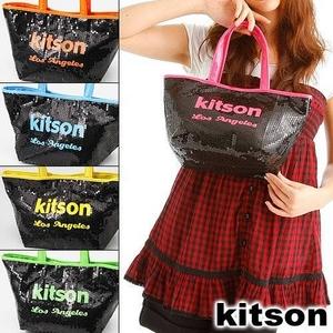 KITSON(キットソン) ミニスパンコール トートバッグ 3576 ネオン オレンジ