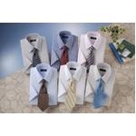銀座・丸の内のOL100人が選んだ 半袖ワイシャツ&ネクタイセット 50216 シャツサイズ L ワイシャツ6枚 ネクタイ8本 セット
