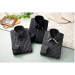 ドレスシャツ3枚組 抗菌・防臭加工ワイシャツ ブラック 50221 サイズ M