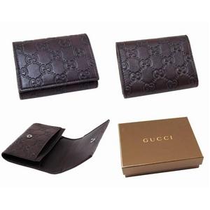 GUCCI(グッチ) カードケース/名刺入れ 120965 A0V1R 2019 GG 型押し牛革(ダークブラウン)
