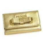 Prada(プラダ) 1M0222 NAPPA FIOCCO PLATINUM 6連 キーケース