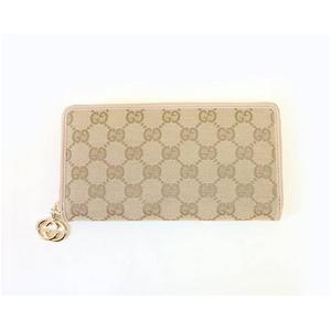 Gucci(グッチ) 212120 FFPAG 8412 ジッピー 長財布 ベージュ×ベージュ