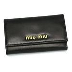 MIUMIU(ミュウミュウ) CAPRETTO BICOLOR5M0222 276 ブラック キーケース