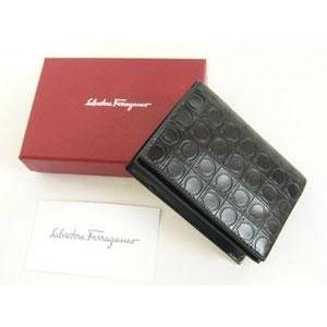 Salvatore Ferragamo(サルヴァトーレ フェラガモ) 66-3554 BLACK メンズ カードケース