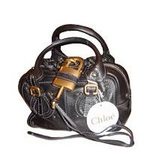 CHLOE(���?) 7AS045-7E422-001 NOIR �ѥǥ���ȥ� �ߥ˥ܥ��ȥ�Хå�����