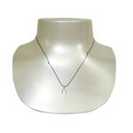 DOGEARED(ドギャード) 83G7 ネックレス MAKE A WISH sterling silver wishbone on black シルバーカラー/ブラック