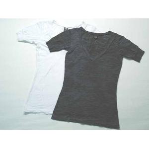 Alternative Apparel(オルタネイティブ アパレル) バーンアウトTシャツ aa2660 Burnout V-Neck S White