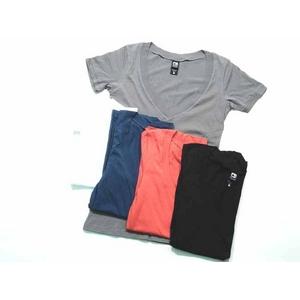 Alternative Apparel(オルタネイティブ アパレル) シアーVネックシャツ aa5060 Sheer V-Neck S White