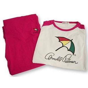 Arnold Palmer(アーノルドパーマー) APJ-01 Tシャツ上下 ピンク L
