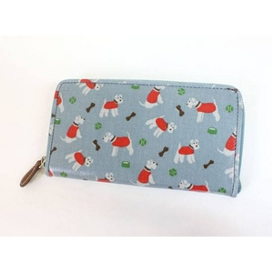 CATH KIDSTON(キャスキッドソン) zipo wallet w/leather pulley o/c mini stanley ラウンドファスナー長財布