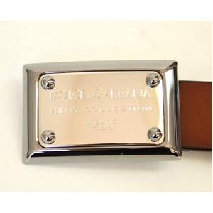 Dolce&Gabbana(ドルチェ&ガッバーナ) BC2353 A5947 80025 ロゴプレートバックル レザーベルト 90