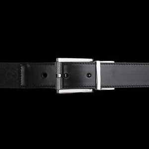 Gucci(グッチ) BE-GUC-A0006121295-F40ZR ベルト ブラック×ブラック/シルバー BKxBK/Silver