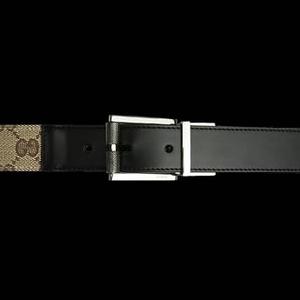 Gucci(グッチ) BE-GUC-A0007121295-F40ZR ベルト ベージュ×ブラウン/シルバー BExBR/Silver