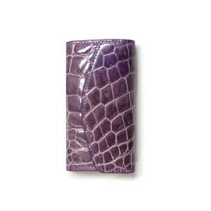 クロコダイル革 6連キーケース CROCODILE 1516 purple