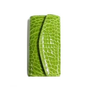 クロコダイル革 6連キーケース CROCODILE 2526 lignt green