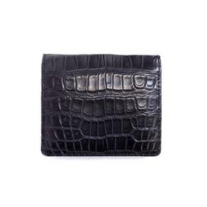 Crocodile(クロコダイル) 財布 小銭入れ ブラックマット【MADE IN JAPAN】