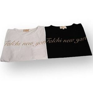 Falchi New York(ファルチ ニューヨーク) F06ST17 ファッション Tシャツ ブラック L