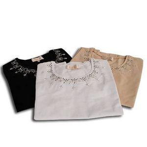 Falchi New York(ファルチ ニューヨーク) FAAI06T-25 ファッション Tシャツ ブラック L
