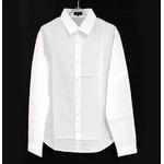 FATE(フェイト) 09新作 長袖 Yシャツ ホワイト 無地  Lの詳細ページへ