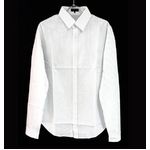FATE(フェイト) 09新作 長袖 Yシャツ ホワイト ストライプ  Mの詳細ページへ