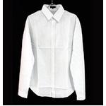 FATE(フェイト) 09新作 長袖 Yシャツ ホワイト ストライプ  Lの詳細ページへ
