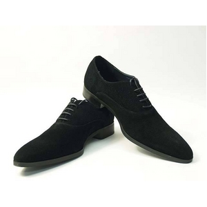 Falchi New York(ファルチ ニューヨーク) FN-007 SWBK 紳士靴 ビジネスシューズ ブラック スウェードブラック 26.5