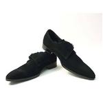 Falchi New York(ファルチ ニューヨーク) FN-008 SWBK 紳士靴 ビジネスシューズ ブラック  スウェードブラック 25.5