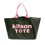 KITSON(キットソン) 3142 ショッピングトートバッグ キャンバス カーキ×ピンク