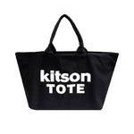 KITSON(キットソン) 3141 ショッピングトートバッグ キャンバス ブラック×ホワイト