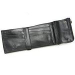 Nicola Ferri(ニコラフェリー) NEW NICOLAKOHMZZ01B casual wallet BK 3つ折り小銭入れ付き財布
