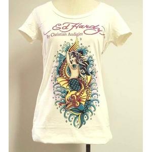 ED HARDY(エドハーディー) Tシャツ W02 298 13Mermaid Off White S Vネックタイプ