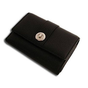 Marie Claire(マリ・クレール) MCR-020 Wホック2つ折財布 ブラック