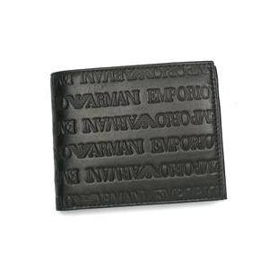 Emporio Armani(エンポリオ・アルマーニ) NAPPA LOGATA YEM122 BKULTIMATE DF 2つ折り小銭入れ付き
