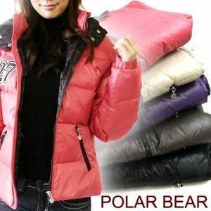POLAR BEAR(ポーラーベア) ショートダウンジャケット ベージュ サイズ 0