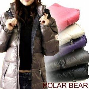 POLAR BEAR(ポーラーベア) セミロングダウンジャケット パープル サイズ 0