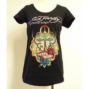 ED HARDY(エドハーディー) Tシャツ W02 297 99Peace Cross Black XS 丸首タイプ