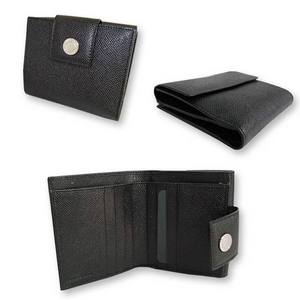 Bvlgari(ブルガリ) Wホック2つ折り財布 ブラック 20201 2009新作