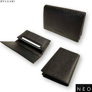 Bvlgari(ブルガリ) 名刺入れ カードケース ブラック 20361 2009新作