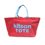 KITSON(キットソン) ショッピングトートバッグ キャンバス レッド 3140 2009新作