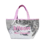 KITSON(キットソン) トートバッグ 0 SEQUIN MINI TOTE ミニスパンコール 2009新作 シルバー×ピンク(3561)